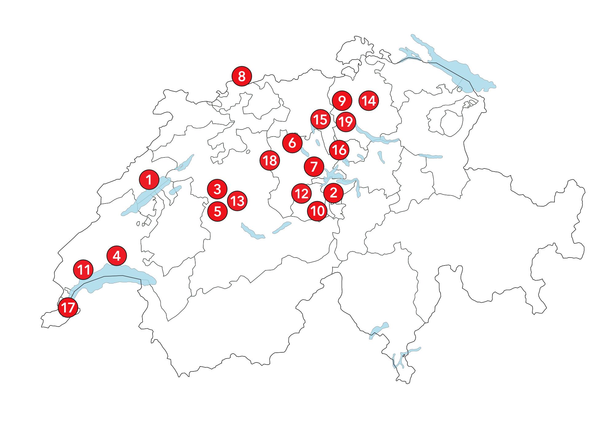 Webseite Clubs Schweiz