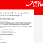Pre-registriere dich für die European Beach Ultimate Championships 2019!